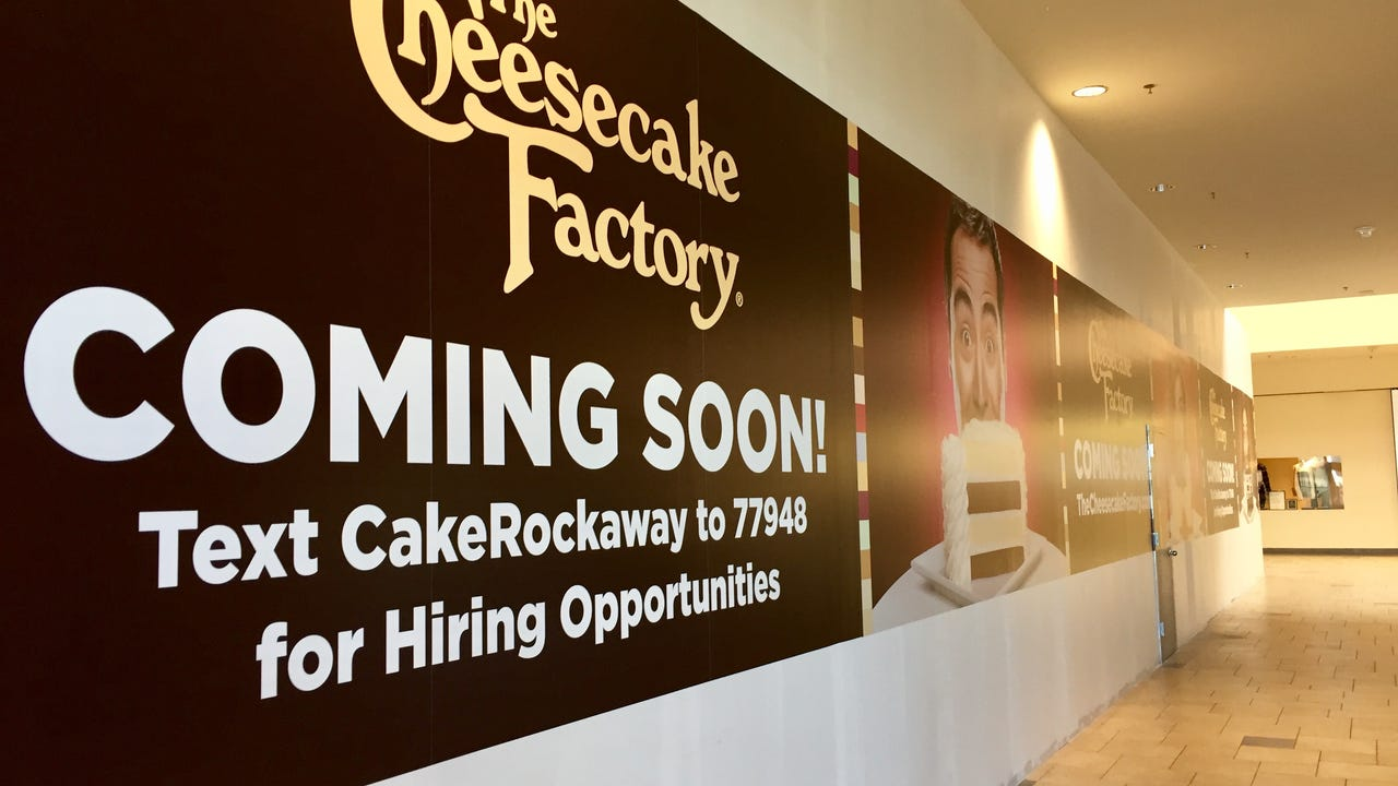 The Townsquare Mall is getting a new tenant this winter, with The Cheesecake Factory scheduled to open in a few months.