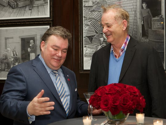 Peter Kelly and Bill Murray at the launch party of their Slovenia Vodka.