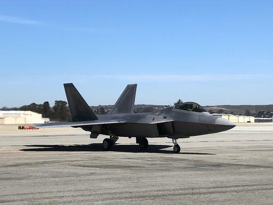 F-22 Raptor at Monterey Regional Airport, Sept.26,