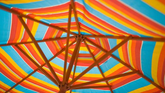 Stock image of a Beach umbrella.