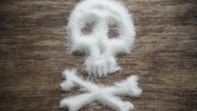 unhealthy white sugar