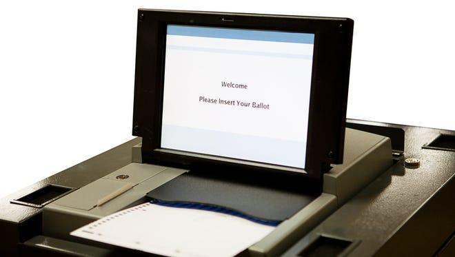 Optical scan voting machine.