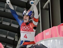 York County's Summer Britcher ninth in luge, sets track record in first day at Olympics