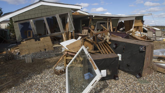 A home in the Mystic Island section of Little Egg Harbor Township demolished by superstorm Sandy in November 2012.