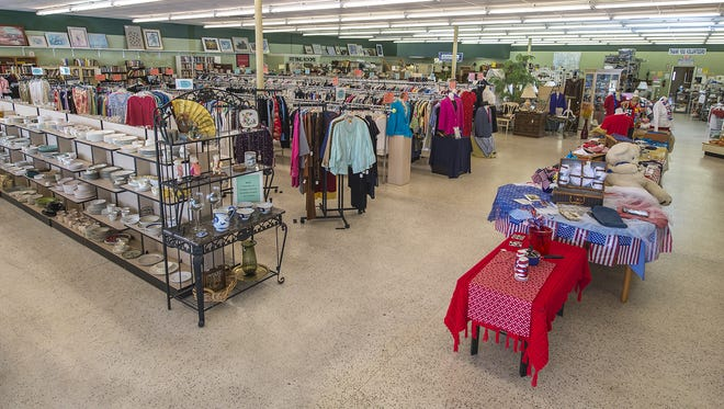 About 90 percent of the people who work at the Community Thrift Store in Fort Myers are volunteers and they are all residents of Shell Point.