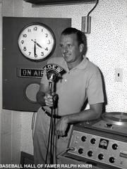 Baseball Hall of Famer Ralph Kiner broadcasting on
