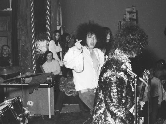 "The MC5 at the Grande Ballroom in Detroit in 1971. The scene is part of the MC5 documentary ""Louder Than Love."""