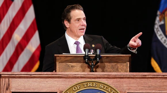 New York Gov. Andrew Cuomo delivers his State of the State address Wednesday.