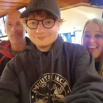 Ed Sheeran spent Sunday night hanging out at a Hooters in Iowa. Seriously.