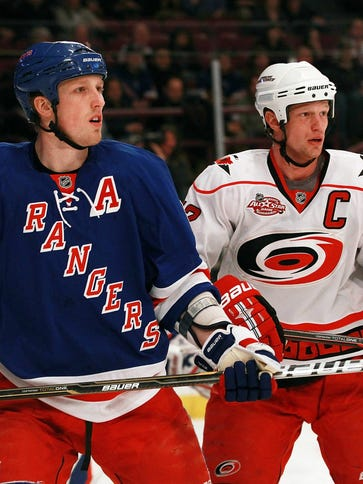 Could Marc Staal, left, end up on the Hurricanes with