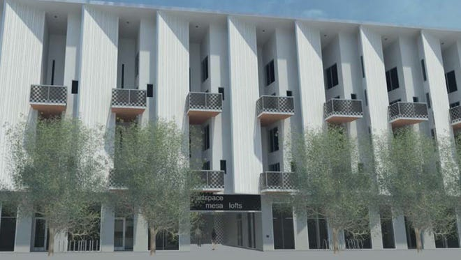 A rendering of the Mesa Artspace Lofts, which are being built in downtown Mesa.