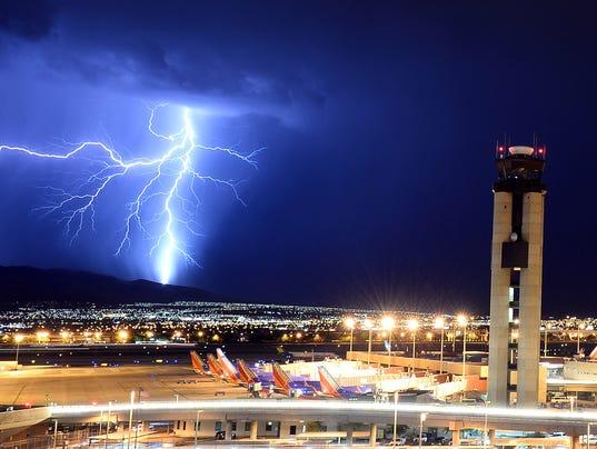 las vegas airport lightning