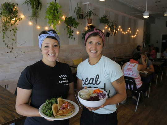 Alex Mazzucca and Cara Pescatore, co-owners of Seed