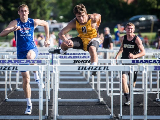 Teams compete in the IHSAA boys track sectional at
