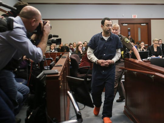 Former sports medicine doctor Larry Nassar arrives