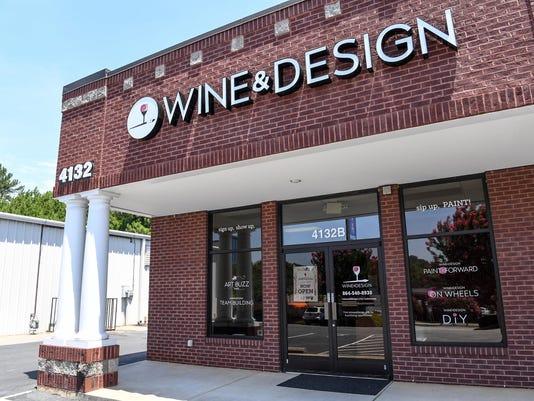 Wine and design 4232B Clemson Blvd