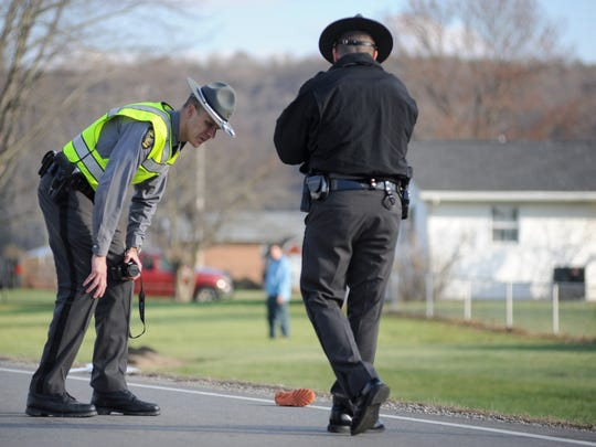 Ohio Highway Patrol investigates the scene of a child struck by a vehicle on Ohio 28 near Cameo Lane.