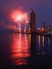 Fireworks mark the end of Manitowoc's 19th annual St.