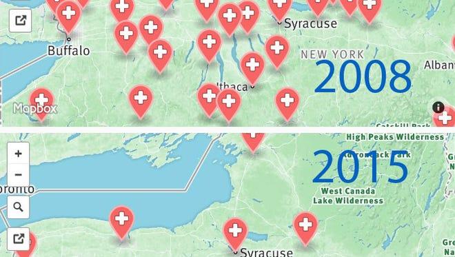 Closures map.