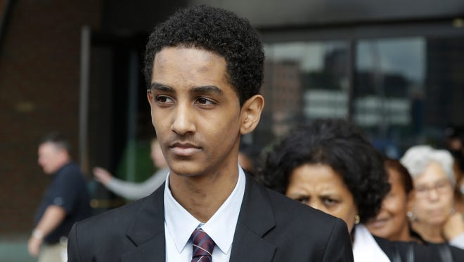 Robel Phillipos leaves federal court in Boston after he was arraigned on charges of hindering the investigation of Boston Marathon bombing suspect Dzhokhar Tsarnaev.