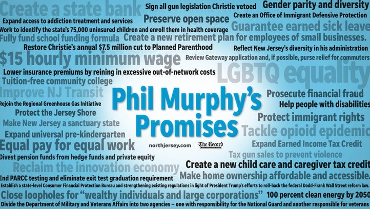 Phil Murphy campaign promise tracker: On minimum wage, PARCC testing, NJ Transit and more