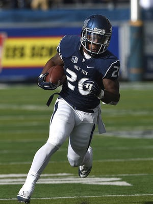 Nevada running back James Butler surpassed the 3,000-yard rushing mark in his career Saturday.