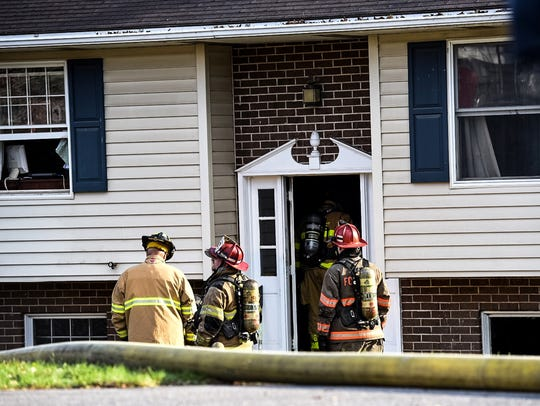Fire crews responded to a reported fire at 12 Plum