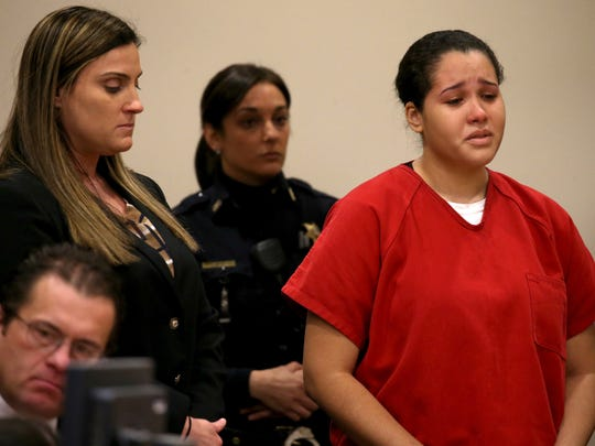 Ruth Lora speaks in court before her sentencing before Judge Alex Renzi for her roll in the UR abduction case.
