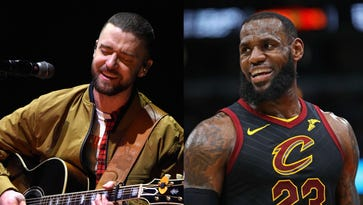 LeBron excited to see Justin Timberlake wear his shoes at concert