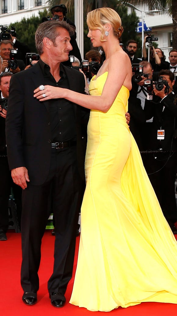 Theron and Penn hit the red carpet at the Cannes Film