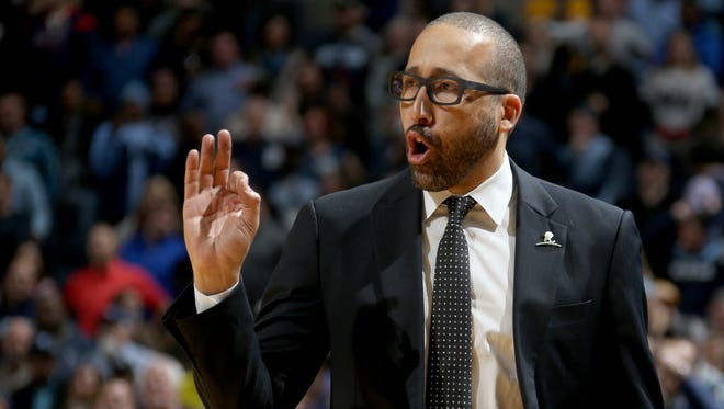 Memphis Grizzlies head coach David Fizdale coaches his team against the Portland Trail Blazers.