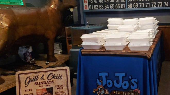 Jojo's Raw Bar and Grill in Wellington is providing free meals to people in need because of the coronavirus.