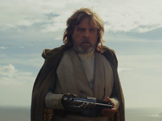 Luke Skywalker (Mark Hamill) was not always happy in