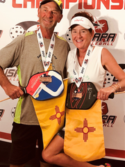 Patrick and Lawanna Quist took home bronze in mixed doubles.