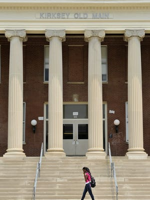 A student walks by the Kirksey Old Main building on the campus of Middle Tennessee State University in Murfreesboro in this 2011 photo. MTSU is in talks with Valparaiso University about the Indiana university moving its law program to Murfreesboro.