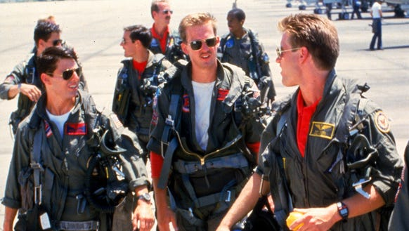 Tom Cruise (from left), Anthony Edwards and Val Kilmer
