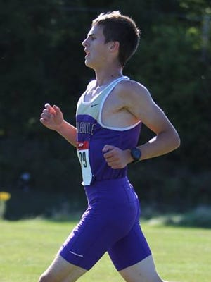 Fowlerville's Chris Davis helped  the Gladiators to a top-three finish in the CAAC White.