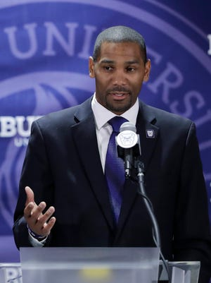 LaVall Jordan is introduced as Butler's new coach.