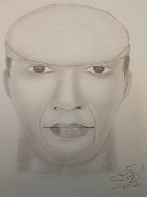 Police sketch of a man accused of fondling himself in the Rosehill Community Center parking lot near New Castle.