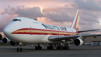 One of the last Boeing 747-200s, flying for Kalitta Air, taxis at Seattle-Tacoma International Airport on April 20, 2017.