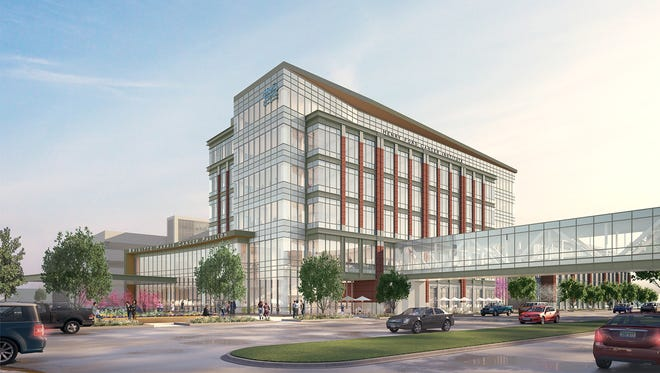 The 187,000-square-foot Brigitte Harris Cancer Pavilion will be part of the Henry Ford Cancer Institute. It's across from Henry Ford Hospital on West Grand Boulevard.
