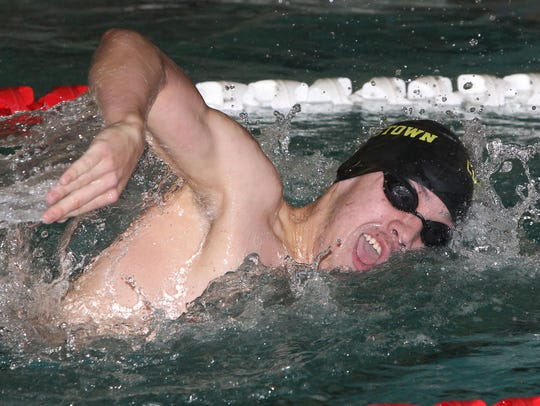 Clarkstown's Andrew Stolarski won the 500-yard freestyle