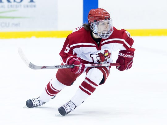 Kayla Meneghin has been a key part of top-ranked Plattsburgh State's success this season, leading the team in scoring.