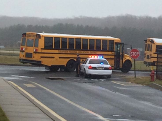 """Officials said they expect a """"delay"""" in dismissal, and asked that parents allow  children to take the bus home. Students were supposed to get out at noon today."""