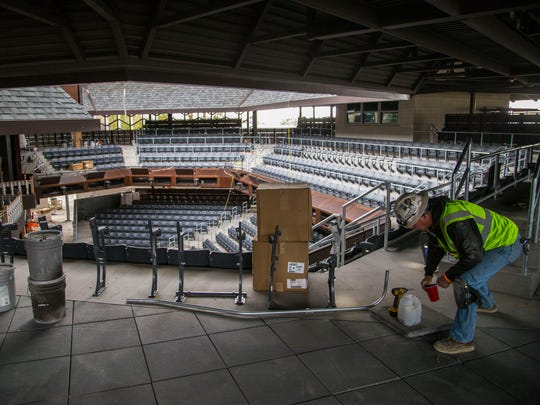 The new Engelstad Shakespeare Theatre under construction will be the new outdoor home of the Utah Shakespeare Festival.