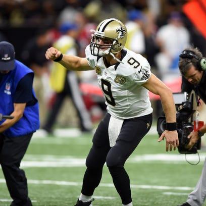 New Orleans Saints quarterback Drew Brees starts the