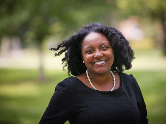 Shontavia Johnson, intellectual property and entrepreneurship expert at Drake University Law School on campus Friday, Sept. 4, 2015.