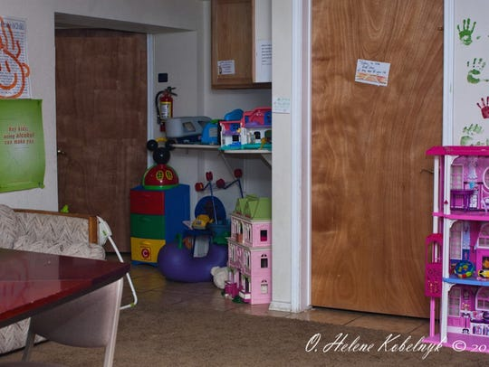 Pictured here is one of the children's play areas inside