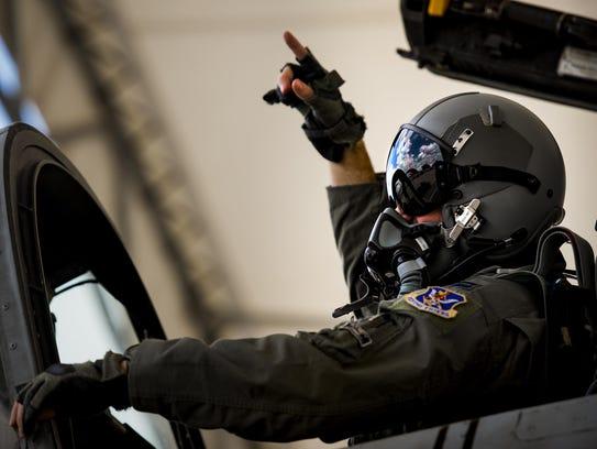 U.S. Air Force Capt. Erik Gonsalves, 75th Fighter Squadron