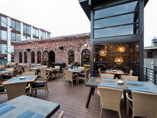 The rooftop deck at Livery, 720 N. College Ave., is